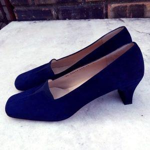 Salvatore Ferragamo Heels | Blue Suede Women's 10
